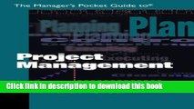 [PDF] The Manager s Pocket Guide to Project Management (Manager s Pocket Guide Series) Download