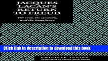[PDF] Jacques Lacan s Return to Freud: The Real, the Symbolic, and the Imaginary Read Full Ebook