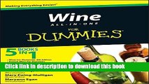 Read Books Wine All-in-One For Dummies E-Book Free