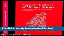 Download Vegetius: Epitome of Military Science (Translated Texts for Historians) [Download] Full