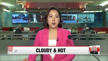 Heatwave warning across Korea, mostly cloudy with chance of showers
