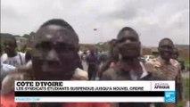 COTE D'IVOIRE - Violences à Cocody : Les syndicats étudiants suspendus jusqu'à nouvel ordre