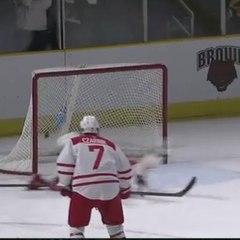 Uma defesa incrível no hóquei no gelo