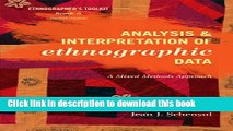 [PDF] Analysis and Interpretation of Ethnographic Data: A Mixed Methods Approach (Ethnographer s