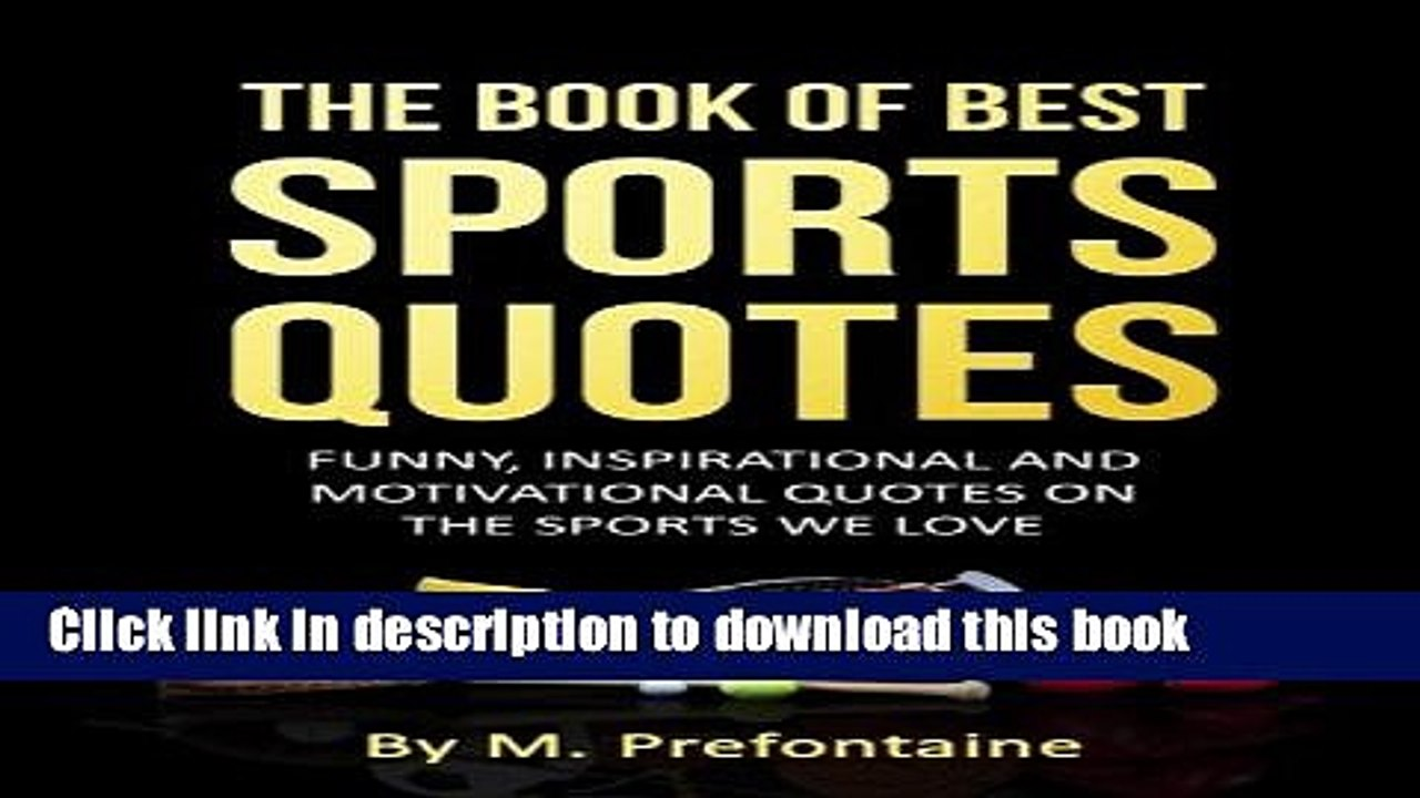 Download The Book Of Best Sports Quotes Funny