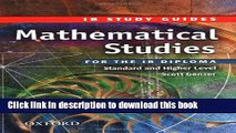 Read Mathematical Studies for the IB Diploma: Study Guide (International Baccalaureate) E-Book Free