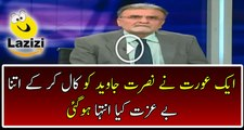 See How Female Caller Badly Insulting Nusrat Javed During Live Show