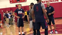 Team USA 1 on 1 Drill  Team USA Guards Go Head To Head