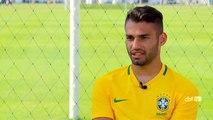 Thiago Maia fala sobre estilo de marcação e entrosamento com experientes da Seleção