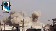 Siria - Damasco Duma - Mig-23 de la Fuerza Aérea Siria bombardea a los terroristas - 3 Octubre 2015