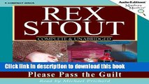 PDF Please Pass the Guilt: A Nero Wolfe Mystery (Mystery Masters) [Download] Online