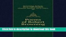 Download Poems of Robert Browning, [PDF] Full Ebook
