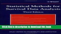 [PDF] Statistical Methods for Survival Data Analysis [PDF] Full Ebook