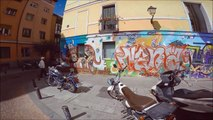 MADRID GOPRO GRAFFITI BCNLEGENDS BOMBING PERSIANAS CIERRES STREETART throwup flops pompa