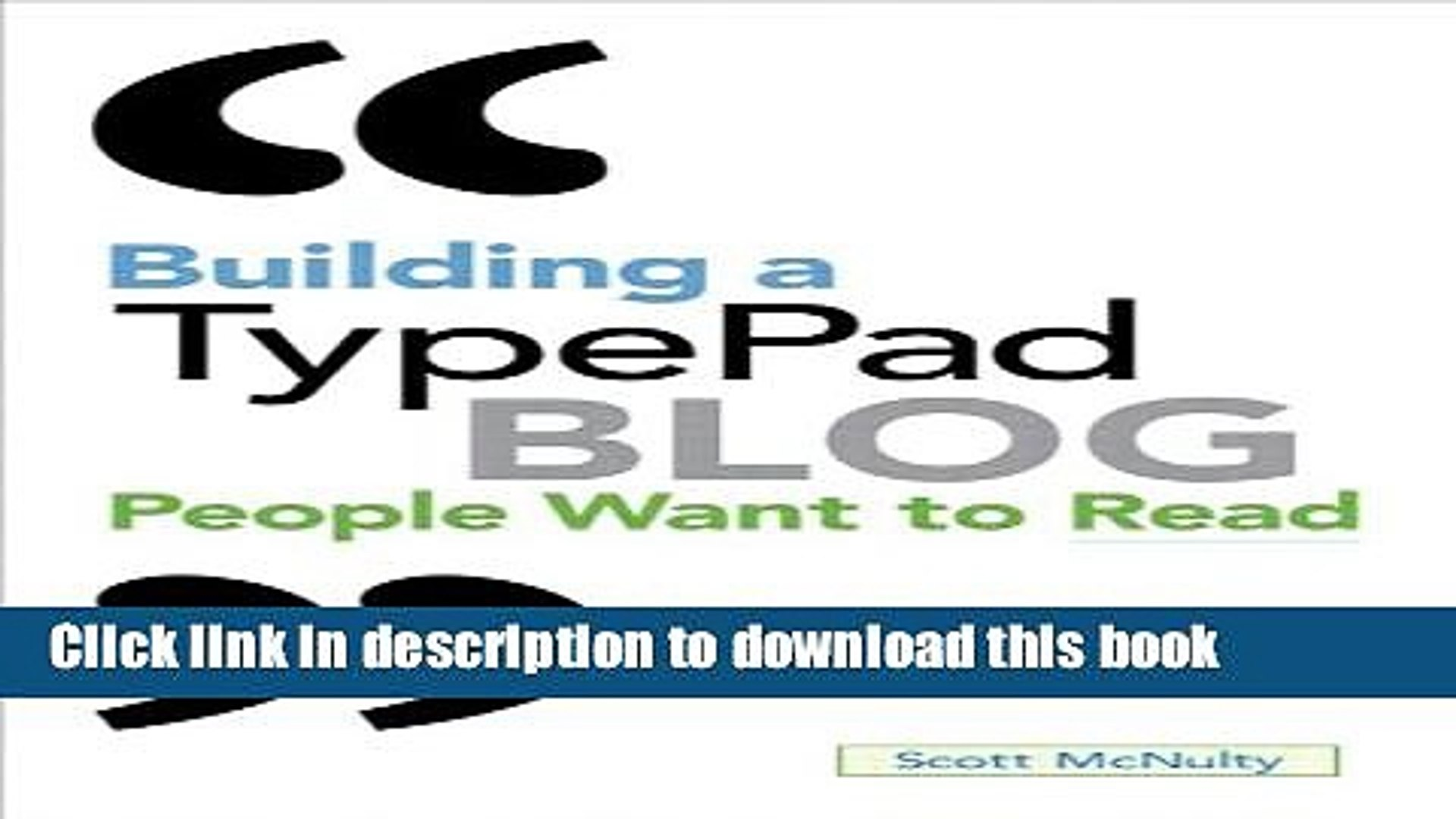 Read Building a TypePad Blog People Want to Read Ebook Free