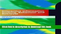 Read Interactive Information-seeking Behaviour and Retrieval  Ebook Free