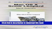 Read Mac OS X: Edicion Snow Leopard/ Snow Leopard Edition (Spanish Edition)  Ebook Free