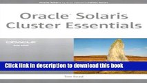 Download Oracle Solaris Cluster Essentials (Oracle Solaris System Administration Series)  Ebook Free