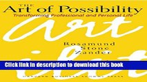 Read Books The Art of Possibility: Transforming Professional and Personal Life E-Book Free