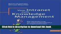 Read Vom Intranet zum Knowledge Management: Die Veränderung der Informationskultur in
