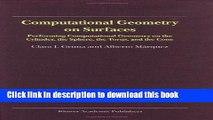 Read Computational Geometry on Surfaces: Performing Computational Geometry on the Cylinder, the