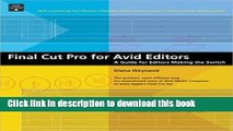 [PDF]  Final Cut Pro for Avid Editors: A Guide for Editors Making the Switch by Diana Weynand