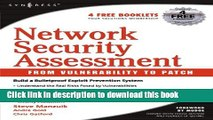 Read Network Security Assessment: From Vulnerability to Patch  Ebook Free