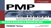[PDF] PMP in Depth: Project Management Professional Study Guide for PMP and CAPM Exams by Sanghera