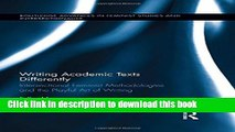 [PDF] Writing Academic Texts Differently: Intersectional Feminist Methodologies and the Playful