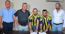 Gökhan Ünal ve Erman Kılıç Menemen Belediyespor'da