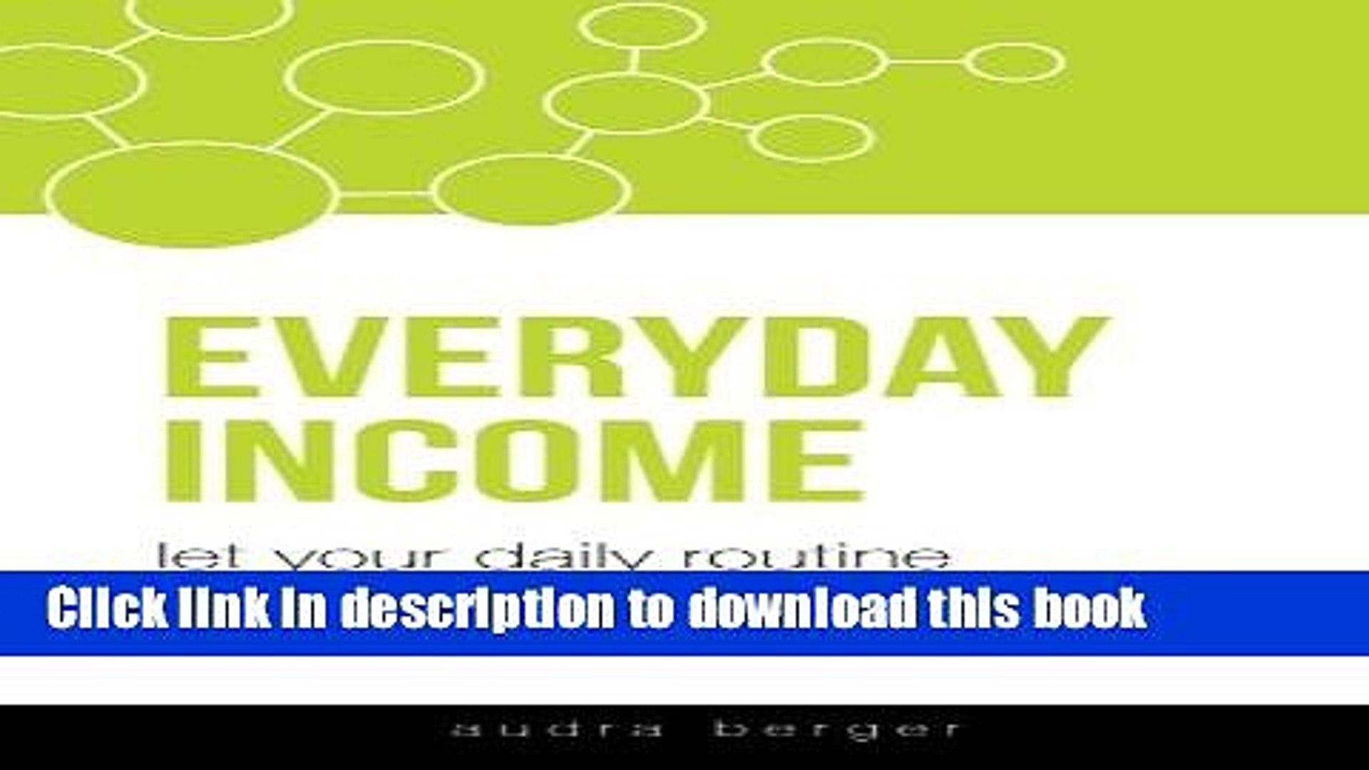 Read Everyday Income: Let Your Daily Routine Change Your Life PDF Free