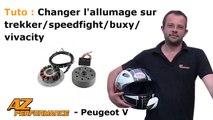 Tuto changer/remplacer l'allumage sur un scooter peugeot trekker, speedfight, buxy, vivacity...