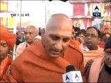 Swami Avdheshanand Giri moves toward Sangam
