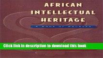 Read Book African Intellectual Heritage (African American Studies) ebook textbooks
