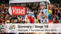 Summary - Stage 19 (Albertville / Saint-Gervais Mont Blanc) - Tour de France 2016