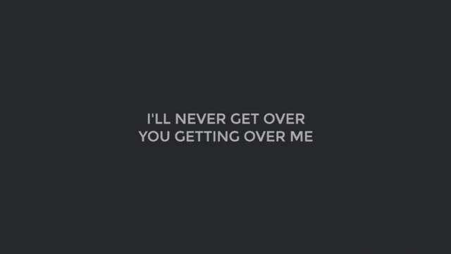 MYMP - I'll Never Get Over You Getting Me (Official Lyric Video)