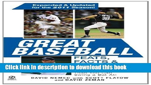Download Book Great Baseball Feats, Facts   Firsts (2011 Edition) Ebook PDF