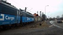 Železniční přejezd AŽD 71 a nákladní vlak - Chomutov, 28. 2. 2013