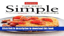 Read The Best Simple Recipes: More Than 200 Flavorful, Foolproof Recipes That Cook In 30 Minutes