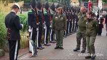 Norway's King's Guard promoted a penguin to the rank of Brigadier. Here he is reviewing the troops.