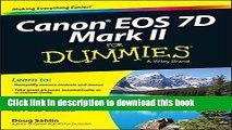 [PDF] Canon EOS 7D Mark II For Dummies Popular Colection[PDF] Canon EOS 7D Mark II For Dummies