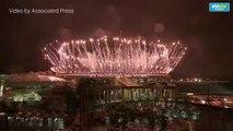 Olympics' closing fireworks show