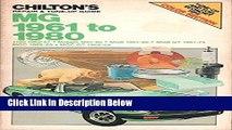 [PDF] Chilton s Repair   Tune-Up Guide: MG 1961 to 1980 (1100 1962-67, Midget 1961-80, MGB