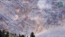 Les images d'un impressionnant glissement de terrain en Italie