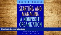 READ FREE FULL  Starting and Managing a Nonprofit Organization: A Legal Guide (Wiley Nonprofit