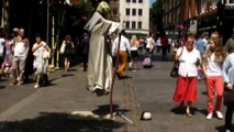The Floating Man with Yoda Face. YOU CAN GUESS THE TRICK. London Street Performance