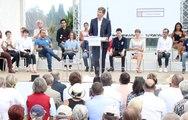 Les propositions d'Arnaud Montebourg à Frangy-en-Bresse