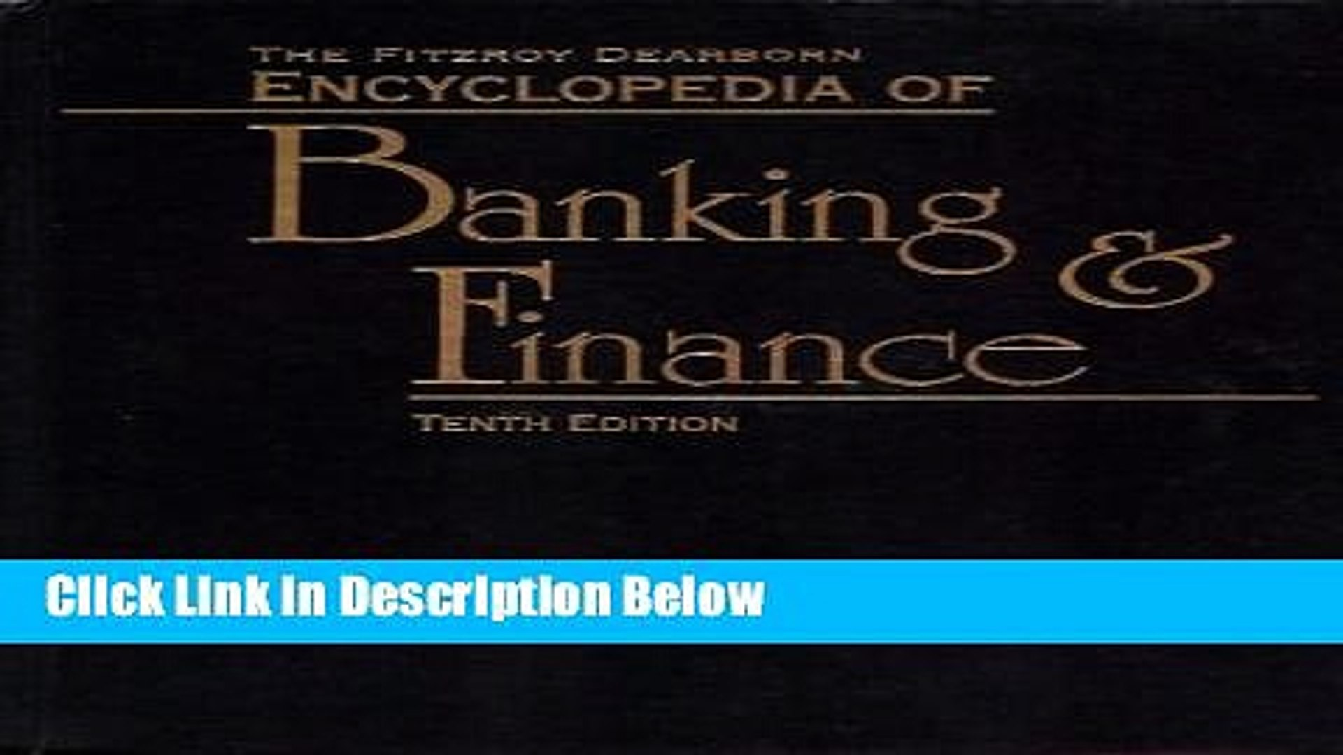 Download Encyclopedia of Banking and Finance [Online Books]