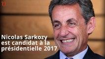 Présidentielle 2017 : Nicolas Sarkozy annonce sa candidature