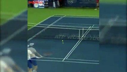 Murray's close call with umpire